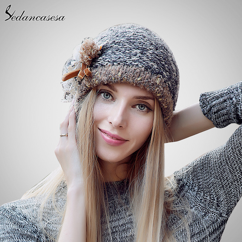 Fashion 2015 Autumn And Winter Female Hats Hot Selling The Knitting Ball Cap Hat Casual Outdoors Cap For Women AA140005 туфли samsung wins the ball 86a8032 2015 ol