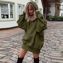 Women Fashion Solid Color Clothes Hoodies Pullover Coat Hoody Sweatshirt