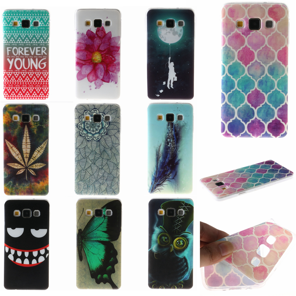 Pu leather case for samsung galaxy a7 2016 a710 peacock feather - Ultrathin Soft Tpu Case Animal Panda Flower Starry Sky Lion Owl Butterfly Feather Moon Cover For Samsung Galaxy 2015 A3 A5 A7