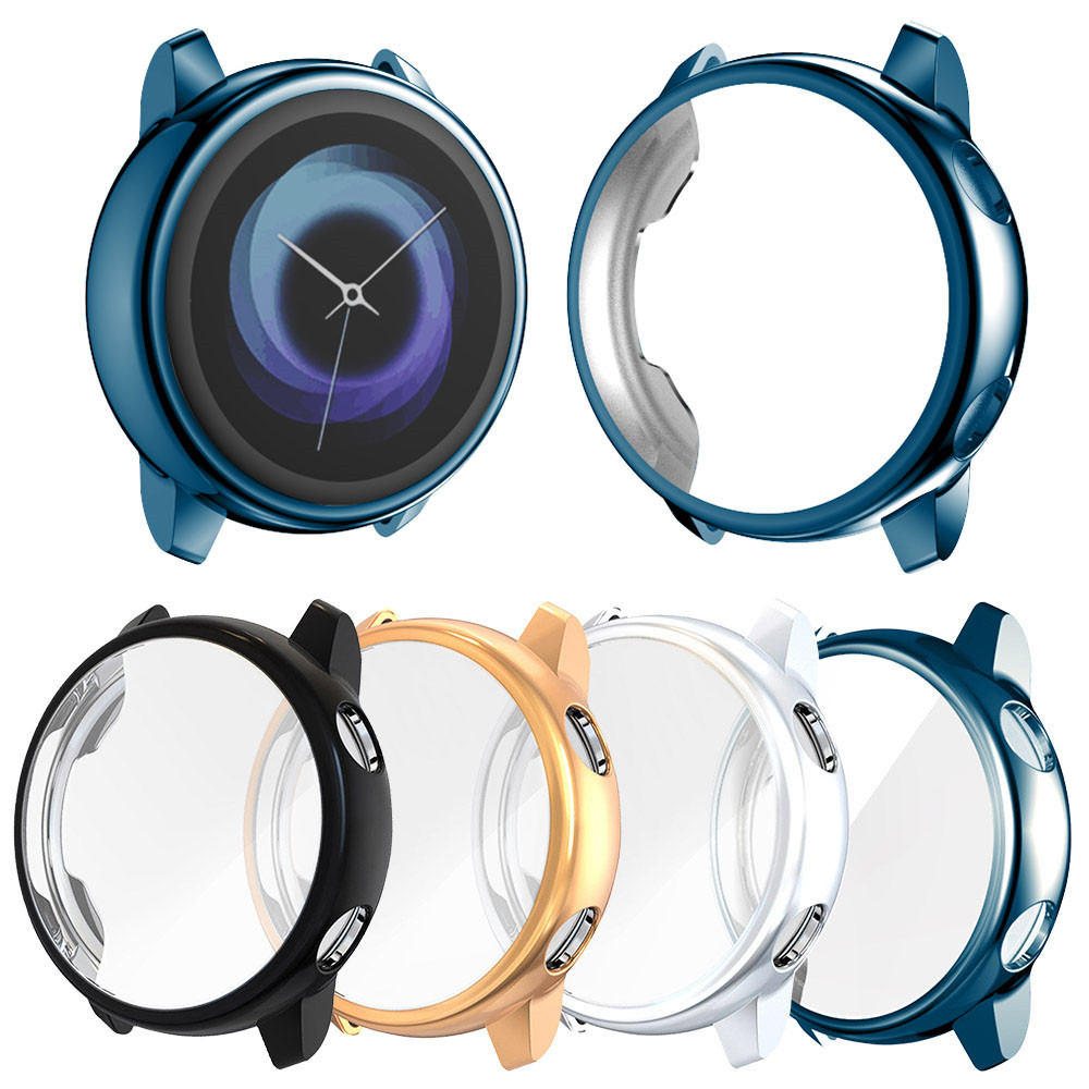 Protector case for samsung galaxy watch active Soft silicone Cover Ultra thin Screen Protection Frame for Galaxy Active 40mm-in Smart Accessories from Consumer Electronics