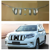CITYCARAUTO CHORMED FRONT GRILL GRILLS COVER HEADLIGHTS COVERS CHORMIUM STYLING FIT FOR TOYTA PRADO 2018 SUV CAR WITH FREE SHIP