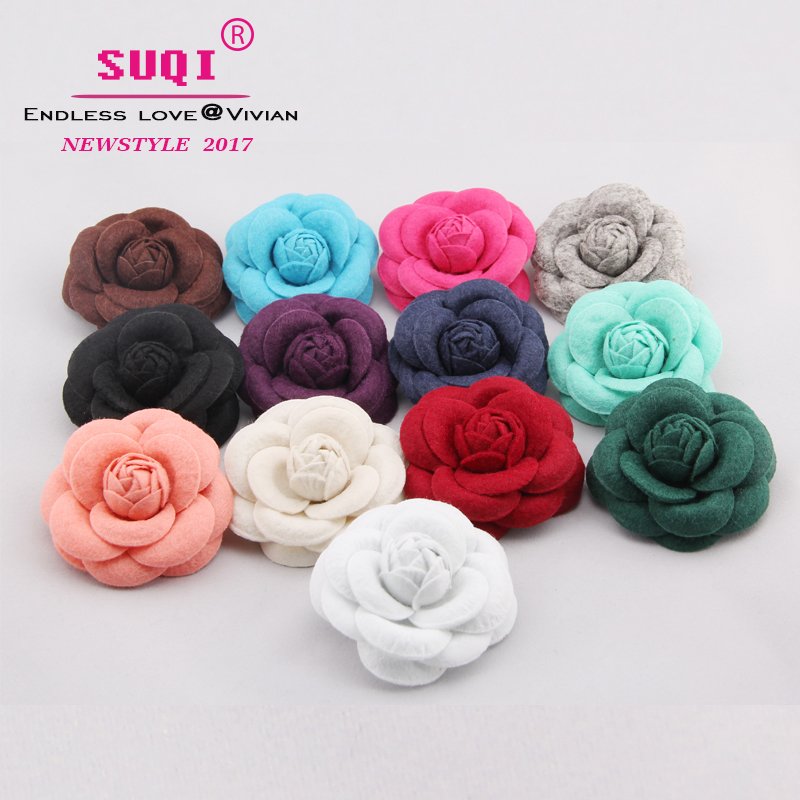 USA SELLER Hair Fashion Fabric Flower Clip Brooch Rose Peony Lady Blue shoes