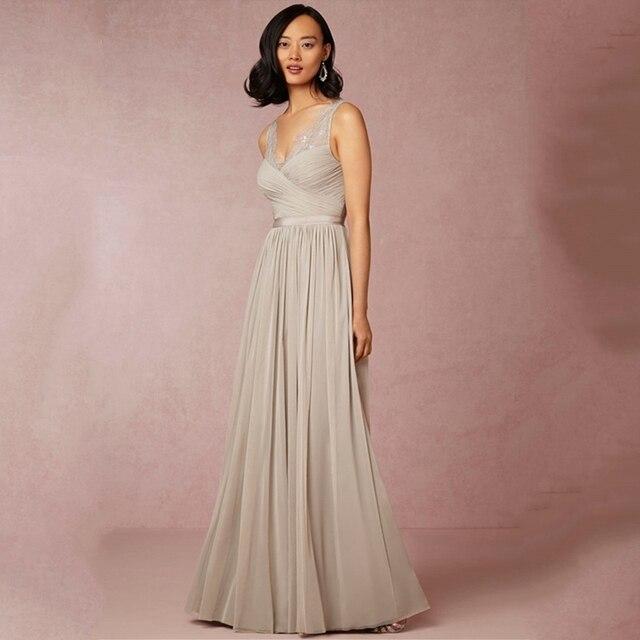 2016 Trendy Long Chiffon Bridesmaid Dresses Spaghetti Straps Wedding Guest Vestido De Festa Casamento