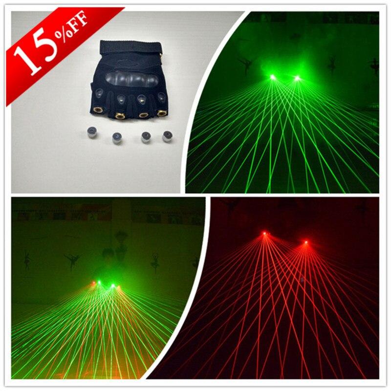 Wecool zelené červené laserové rukavice se 4 ks zelených - Pro svátky a večírky