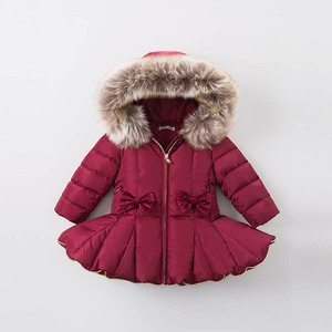 Image 3 - DB6099 dave bella kış bebek kız aşağı ceket çocuk 90% beyaz ördek aşağı yastıklı ceket çocuklar kapüşonlu giyim
