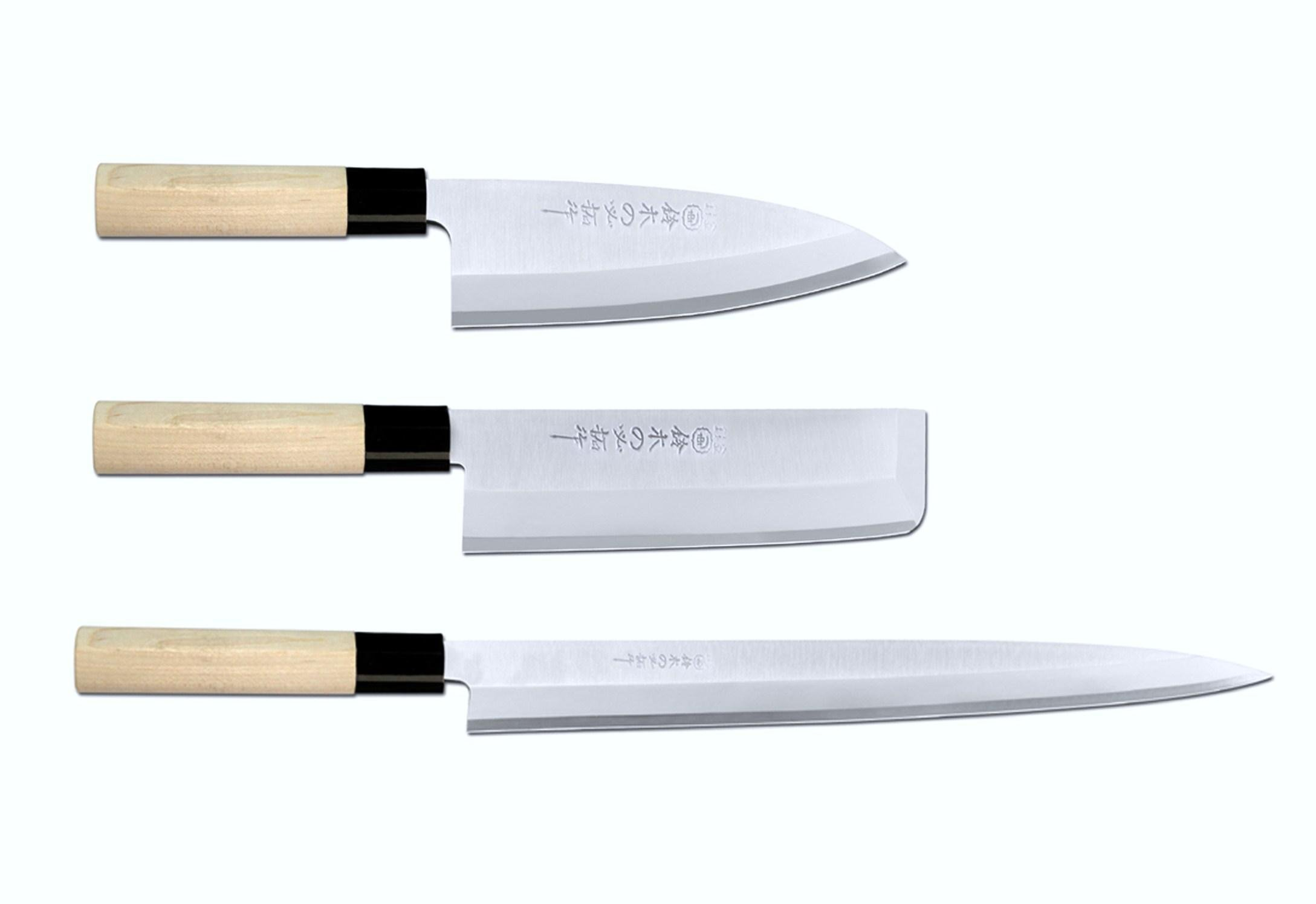 Popular Exproted Items And Free Shipping 3pcs Japanese Kitchen Knife Set Chopping Setsushi In Knives From Home Garden On