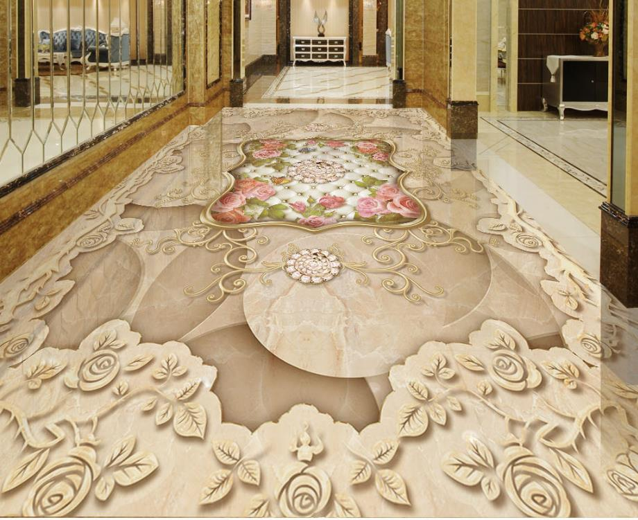 Custom European Style Retro Vinyl Flooring Bathroom Environment Friendly 3D Stereoscopic Wallpaper Floor Murals an incremental graft parsing based program development environment