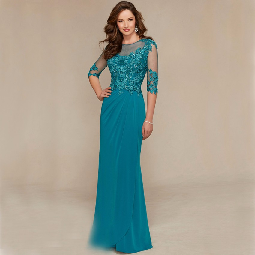 Custom-Made-Mother-Of-The-Bride-Dress-Gowns-Lace-Beading-Half-Sleeves-Godmother-Dresses-Trajes-de