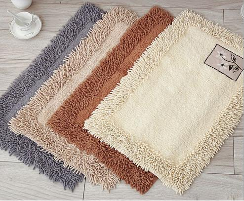 Free Shipping Cotton Chenille Fabric Rugs And Carpets Mat Home Hotel Restaraunt Luxury Door High Quality Floor Whole