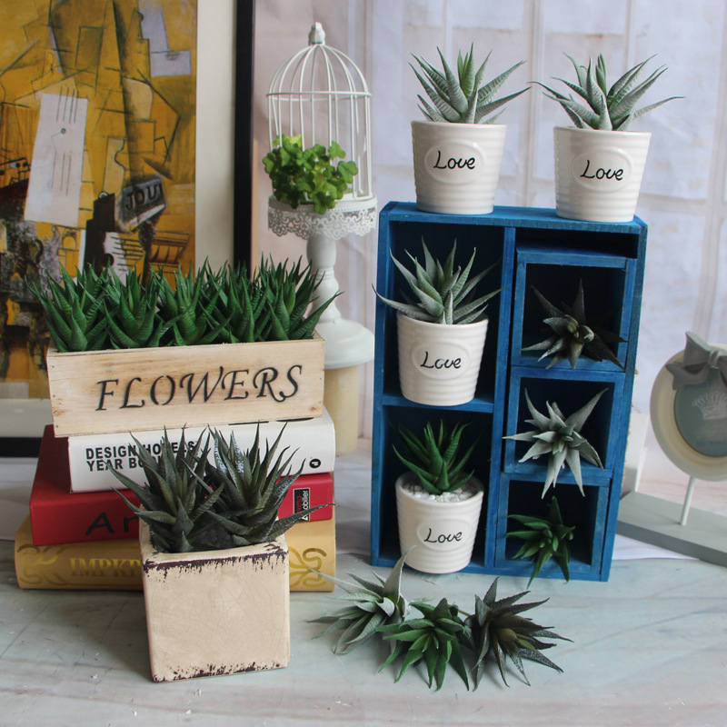 10 PCS Real Touch Artificial Succulents Ornaments Mini Artificial Plants  Living Room Home Festival Party Decoration