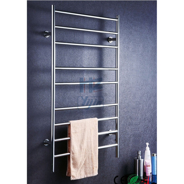 bathroom accessory ladder wall mounted heated towel rail warmer rack dryer costco freestanding lowes