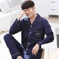 2016 winter modal sleepwear suit for men classic stripe lounge wear long sleeve lovers pajamas sets