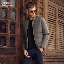Enjeolon, брендовый, утолщенный, зимний пуховик, мужской, светильник, пуховик, белый, утиный пух, куртка, высокое качество, теплый, пуховик, куртка MF0102