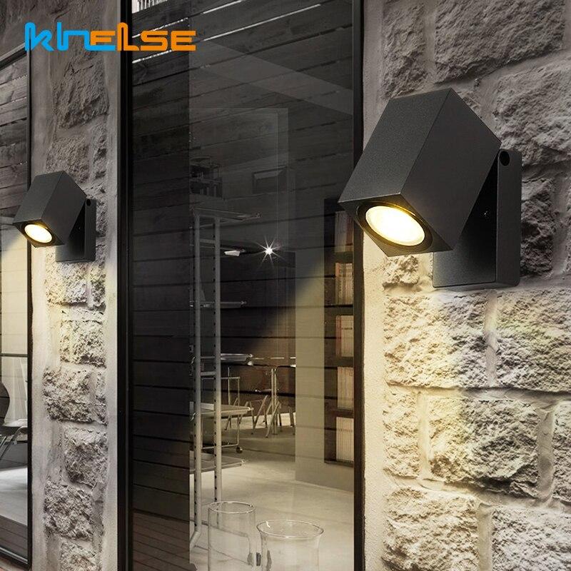 Outdoor Lighting IP65 Adjustable Folding LED Wall Light GU10 5W Porch Light Waterproof Garden Courtyard Exterior Door Wall Lamp