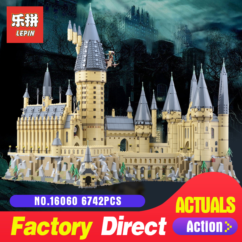 2018 New Lepin 16060 Harry Magic Potter Hogwarts Castle School Compatible With Legoing 71043 Educational Building Blocks Bricks new pattern hogg watts magic school school badge quartz pocket watch senior high school student harry potter gift table ds281