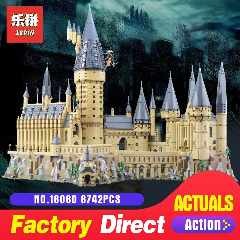 2018 Nouveau Lepin 16060 Harry Potter Magique Poudlard Château L'école Compatible Avec Legoing 71043 Éducatifs Blocs de Construction Briques