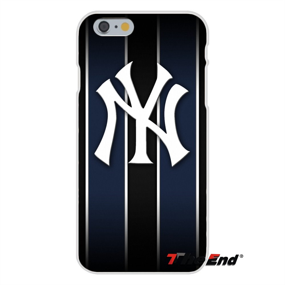 For American New York Yankees Logo Slim Back Silicone Case For