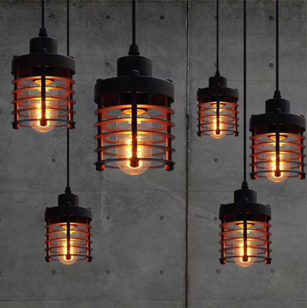 Vintage Industrial Retro LOFT Pendant Lamp Edison Light E27 Holder Iron Restaurant Bar Counter Attic Bookstore Cage Lamp