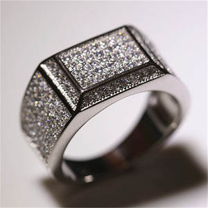 l&zuan Men Ring Sterling Silver Jewelry Engagement Wedding