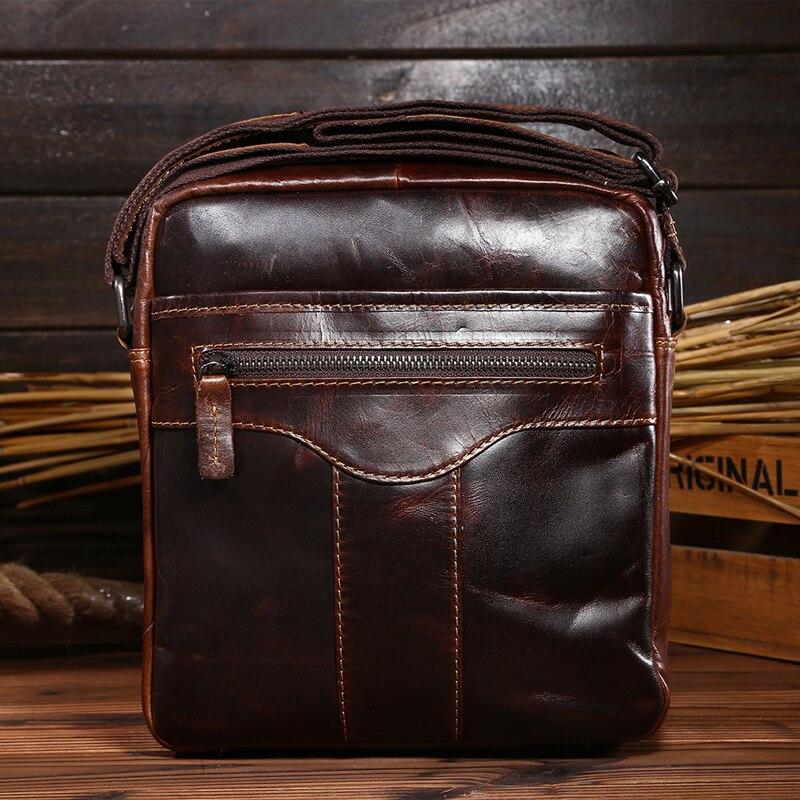 0066,Guaranteed genuine leather Mens Briefcase men messenger bags Business travel bag man leather vintage men shoulder bag