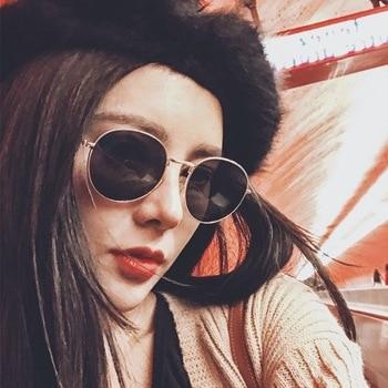 2019 Fashion Round Sunglasses Women Brand Designer Luxury Metal Sun Glasses Classic Retro Outdoor Eyewear Oculos De Sol Gafas