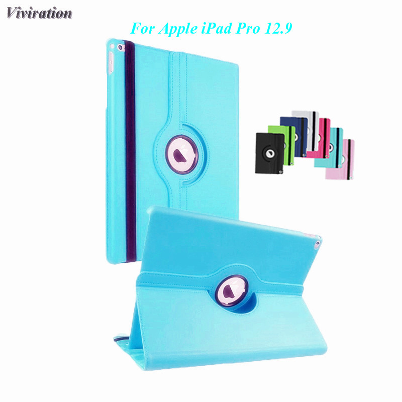Viviration Case For Apple PU Leather Tablet Cover 12.9 Inch 360 Degree Rotating Case For iPad Pro 12.9 Smart Flip Stand Cover for apple ipad pro 12 9 inch pu leather stand cover flip back case luxury business style smart tablet cover for ipad pro