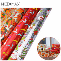 3 Rolls 70 * 400CM Christmas DIY Gift Wrapping Paper Gift Wrap Organizer Gift Wrap Wedding Events Decorative Crafts Festive