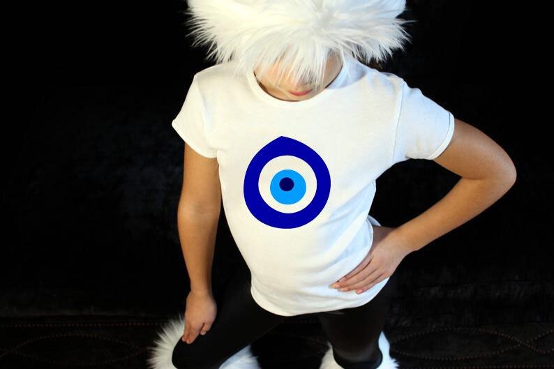 Kids Evil Eye Graphic Tee Shirt Letter Print Child Boy ...