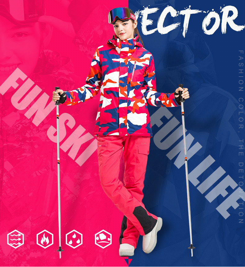 Vêtements ski Professional Coupe-vent Femme VECTOR