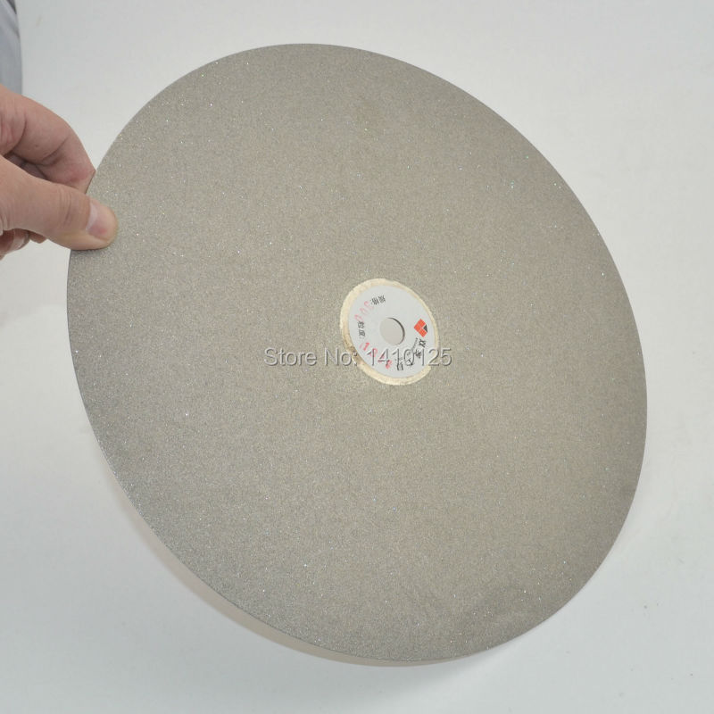 12 inch 300mm Grit 180 Diamond coated Flat Lap Disk Grinding Polishing Wheel Medium for Jewelry Glass Rock 750g piece white polishing wax paste for metal jewelry stainless steel polishing working with polishing buffing wheel