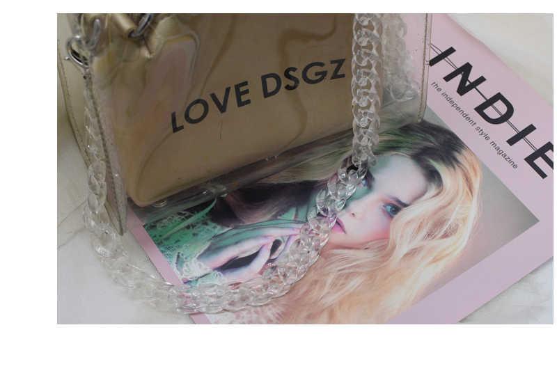Новые цвета Женская акриловая сумка через плечо с ремешком шикарный сплошной цвет или смешанный цвет в 1,5 см * 2 см сумка через плечо модные ремни