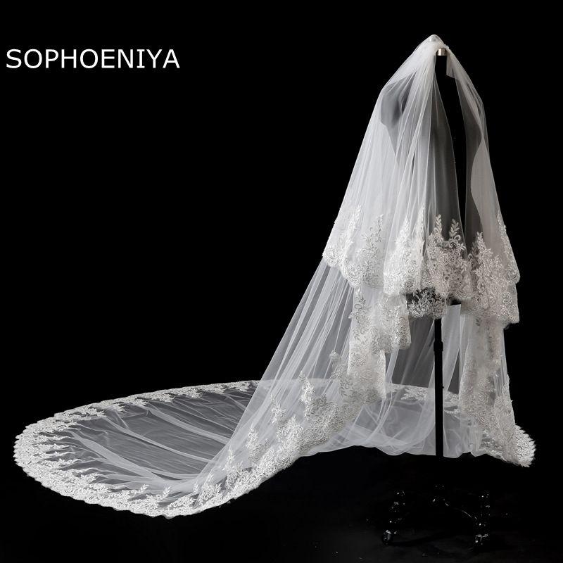 New Arrival Velo Sposa Ivory Wedding Veil 2020 Cheap Wedding Accessories Veu De Noiva Veu Bridal Veil Voile De Mariee Sluier