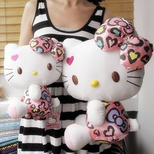 hello kitty Diamond leopard grain,new design,plush toys,28cm size,valentine's day gift,Free-factroy wholesale