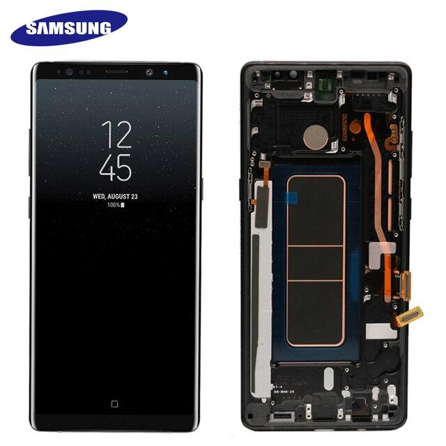 """Nuevo 6,3 """"Original SUPER AMOLED pantalla para SAMSUNG Galaxy NOTE8 LCD N950 N950F pantalla táctil piezas de repuesto + marco"""