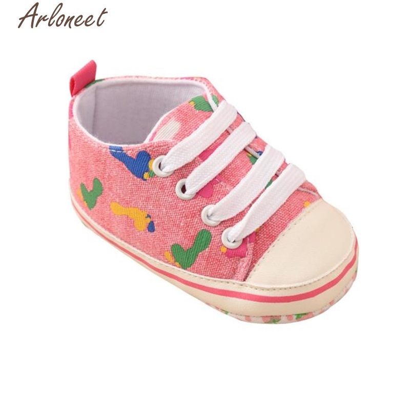 2017 new autumn winter Toddler Baby Colorful Stars Printing Bandage Canvas Shoes Newborn Shoes high quality