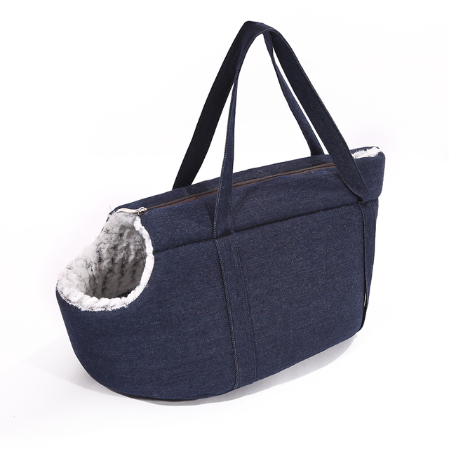 Travel Dog Bed >> Fashion Denim High Quality Pet Bed Bag Soft Sided Travel Dog And Cat