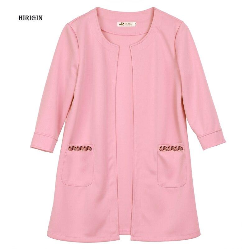HIRIGIN 2017 Autumn Winter New Ladies Casual Long Jackets Warm Womens Slim Coat Outwear TOP Cardigan