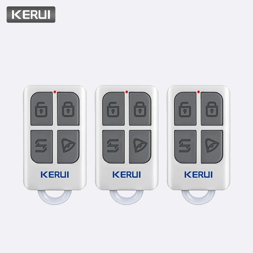 KERUI 3pcs Wireless Remote Control For W1 W2 W17 W18 W19 G18 G19 G183 G193 8218G 8219G Home Security Alarm System ControllerKERUI 3pcs Wireless Remote Control For W1 W2 W17 W18 W19 G18 G19 G183 G193 8218G 8219G Home Security Alarm System Controller
