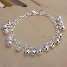 2016 Hot Silver Color Jewelry bracelet, silver plated wristlet vintage-accessories Bell Bracelet /QGBEDPTX CLXWLBIFI