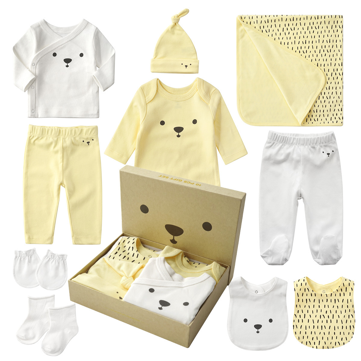 Cotton 10-piece Sets Newborn Clothes Gift Box Spring And Autumn New Born Baby Suit Mother And Baby Full Moon Kids Gift Clothes 10pcs baby products boy and girls full moon fashion sets spring and autumn baby best gift newborn baby clothes unisex set cotton