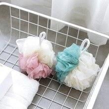 1 pc éponge de bain en Nylon baignoires à billes épurateur douche corps lavage maille douche bulles riches corps Loofah Massage douche épurateur fleur de douche