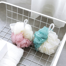 1pc Nylon Bath Sponge Ball Tubs Scrubber Shower Body Wash Cleaning Mesh Shower Rich Bubbles Body Loofah Massage Shower Scrubber