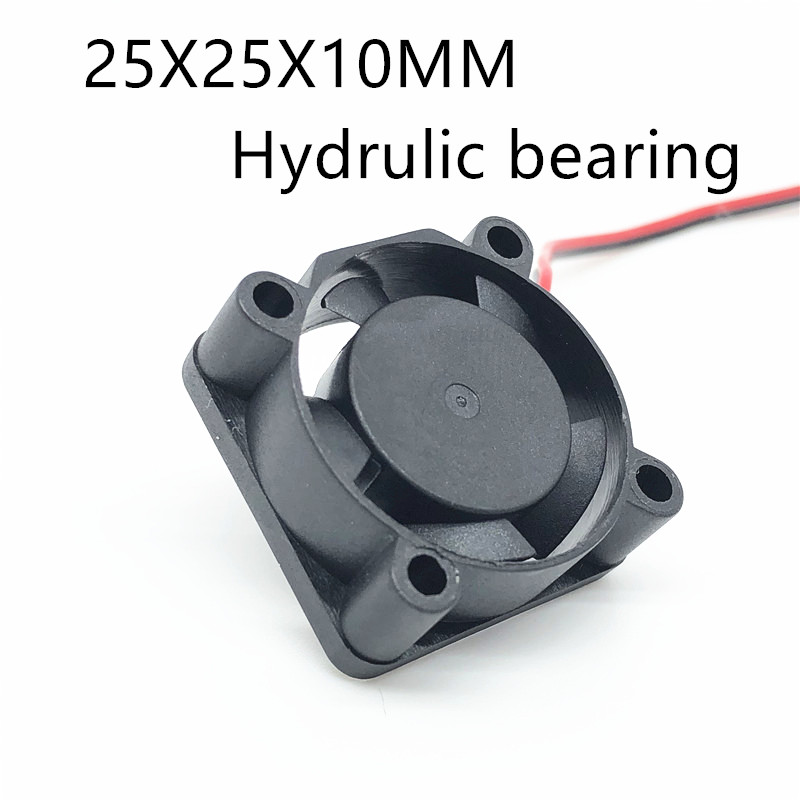 Hydrulic Bearing 2510 25MM 25x25x10MM  Graphics Card Cooling Fan  5V 12V 24V M.2 SSD Fan With 2pin