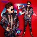Masculino jaqueta menino blazer outerwear conjunto dancer cantor desempenho vestido show de boate roupas Ao Ar Livre dos homens desgaste Fino tigre
