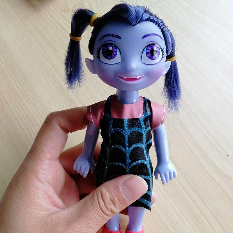 18cm Movie Junior Vampirina Dolls The Vamp Girl Hands Move Action Figure Toys Kids Birthday Gifts Anime Cartoon Toys
