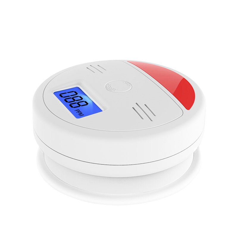 LCD Display CO Detector Independent Carbon Monoxide Alarm Sensor Sound Flash Warning Poisoning Smoke Gas Tester Monitor Detector