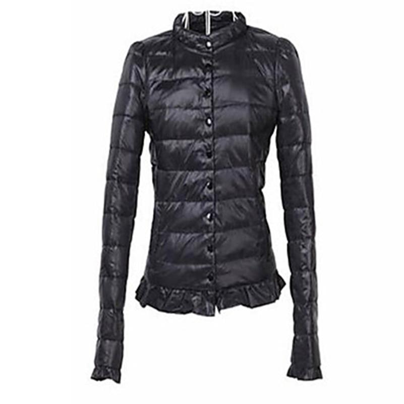 2018 Warm Winter Women Ladies Zipper Fitting   Basic   Coats   Jacket   Boyfriend   Jacket   Feminina Windbreak Oversized Slim Solid //