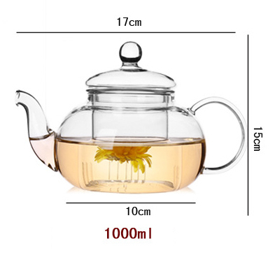Flower Tea Cup Glass Teapot