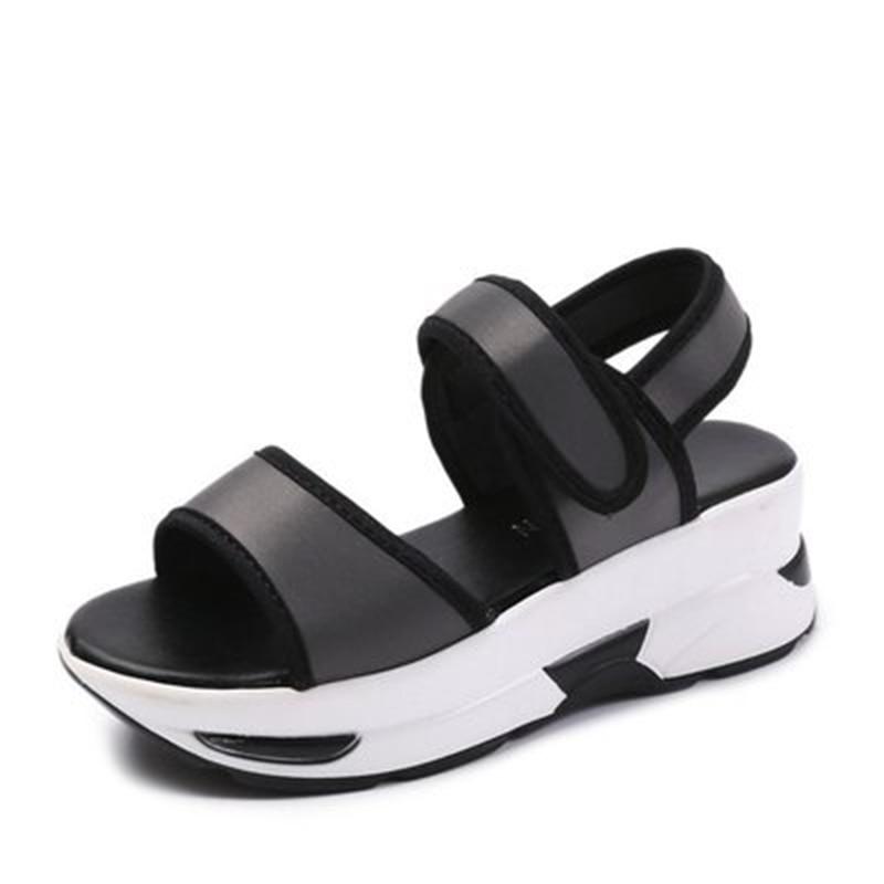 Sapatos Mulher Top Real Pu 2018 Sandale Verë Pranvera Sandale me - Këpucë për femra