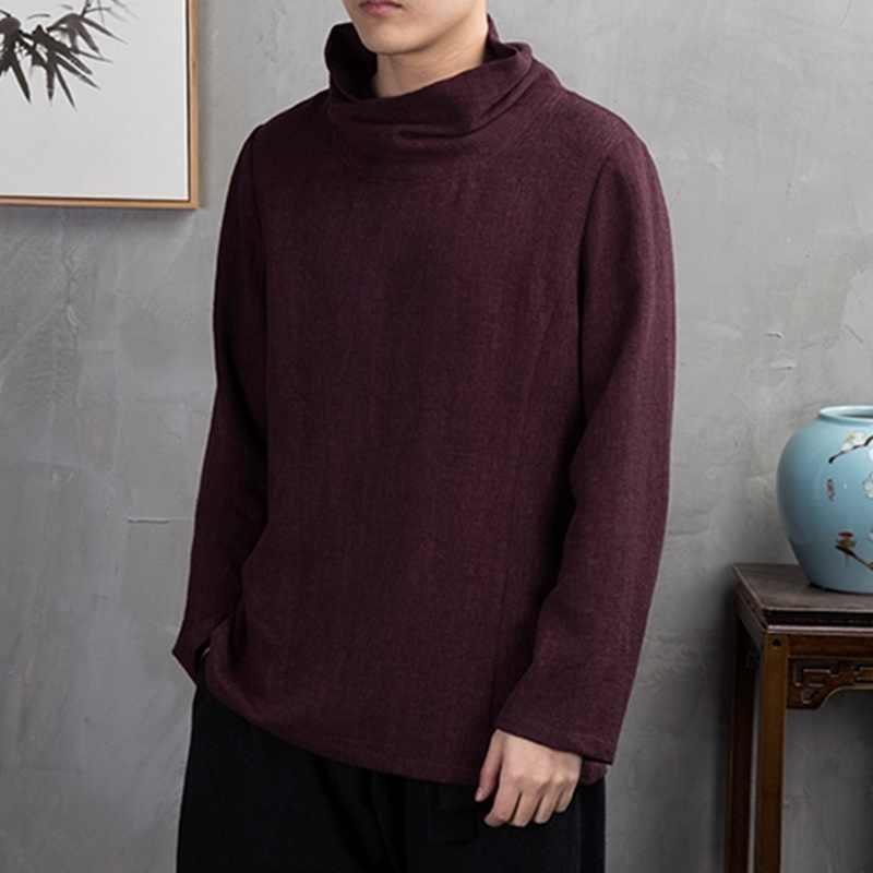 Traditionele chinese kleding voor mannen mannelijke Chinese mandarijn kraag shirt blouse wushu kung fu outfit China shirt tops KK2460